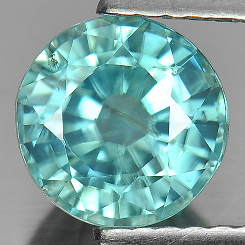 1.96 Ct. Alluring Round Shape Natural Gem Blue Zircon