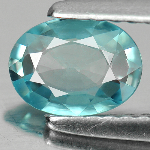 0.88 Ct. Oval Shape Natural Blue Zircon Cambodia Gem