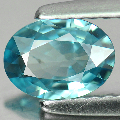 0.83 Ct. Oval Shape Natural Blue Zircon Cambodia Gem