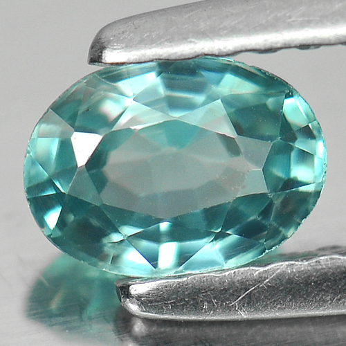 0.86 Ct. Oval Shape Natural Blue Zircon Cambodia Gem