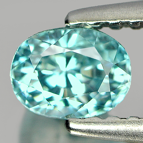 0.83 Ct. Oval Shape Natural Blue Zircon Cambodia Gems