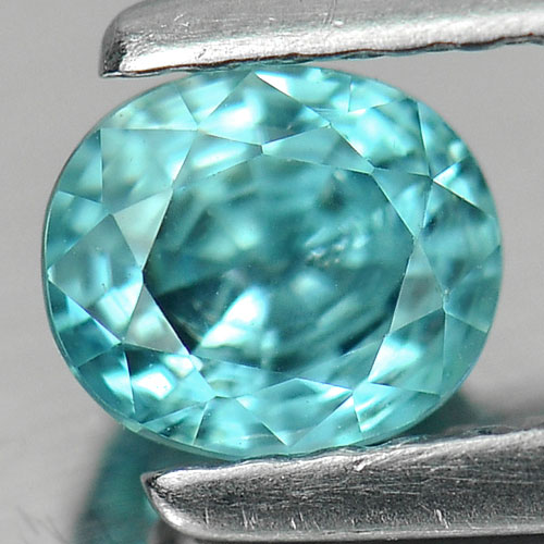 0.87 Ct Stunning Oval Natural Blue Zircon Cambodia Gems