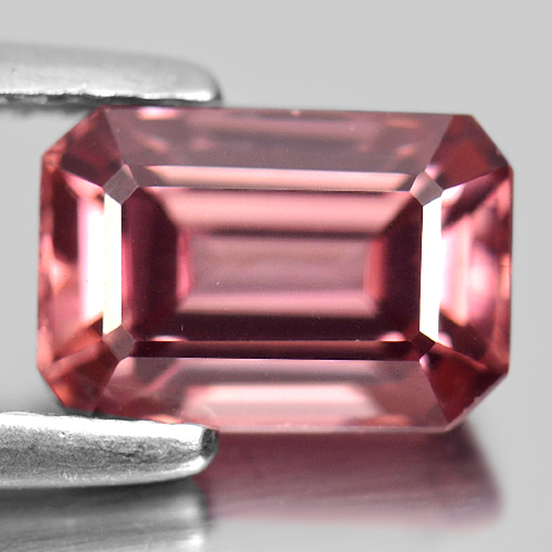 2.69 Ct. Natural Imperial Pink Zircon Gemstone Octagon Shape Unheated