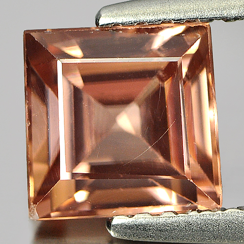 2.24 Ct. Natural Gemstone Imperial Zircon Square Cut From Tanzania Unheated