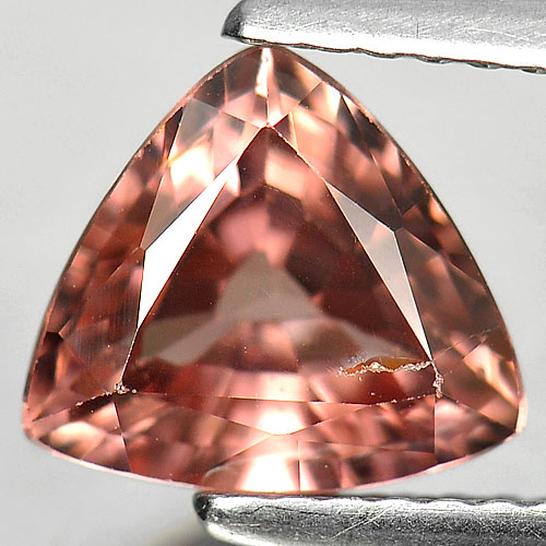 2.13 Ct. Natural Gemstone Imperial Pink Zircon Trilliant Shape Unheated