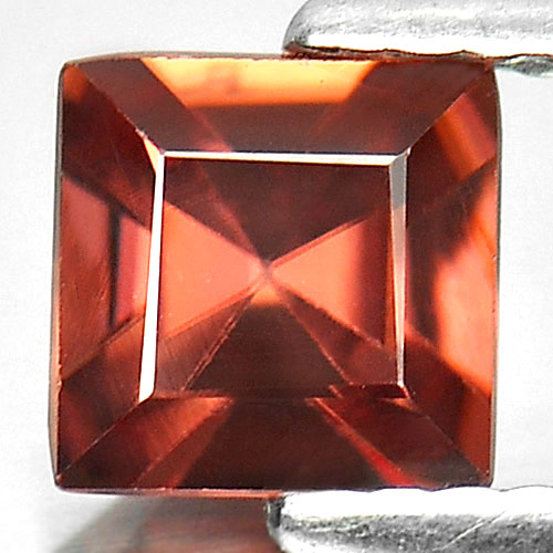 1.15 Ct. Square Shape Natural Gemstone Imperial Zircon Tanzania