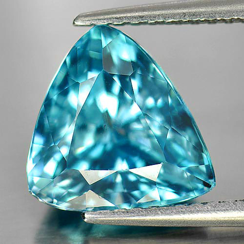 4.92 Ct. Trilliant Shape Natural Gemstone Blue Color Zircon From Cambodia