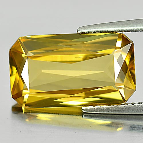 Yellow Zircon 8.19 Ct. Octagon Shape Natural Gemstone From Cambodia