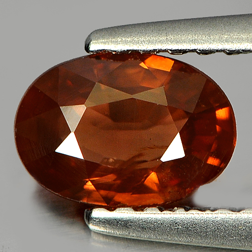 0.84 Ct. Oval Natural Gemstone Imperial Zircon Good Color