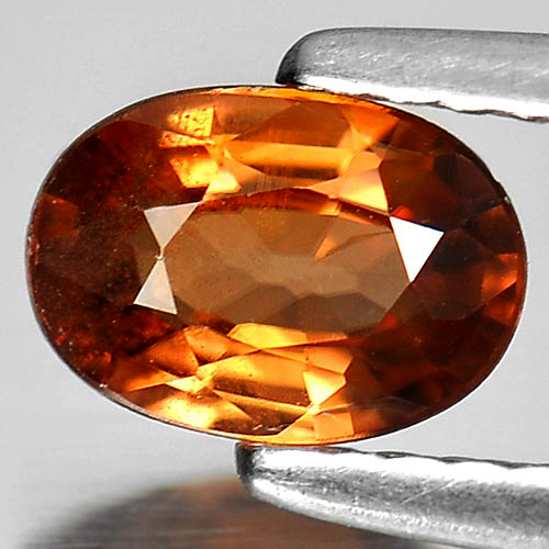 0.89 Ct. Calibrate Size 7 x 5 Mm. Oval Natural Gem Yellowish Brown Zircon