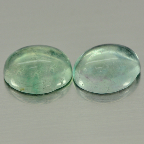 6.27 Ct. 2 Pcs. Oval Cabochon Natural Fluorite Unheated