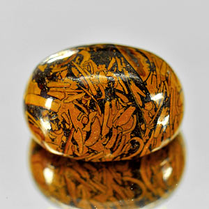 26.60 Ct. Natural Elephant Skin Jasper Oval Cabochon Unheated