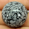 Unheated 91.46 Ct. Natural Gemstone Snowflake Obsidian Round Cabochon 24 Mm.