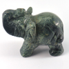 131.00 Ct. Natural Gem Green Elephant Writing Agate Carving Unheated