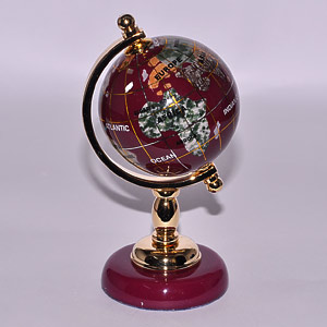 Gems Globe Surface Polish With Clean Soft Cloth Agate