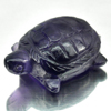 21.03 Ct. Lovely Natural Gemstone Purple Amethyst Turtle Carving Brazil Unheated