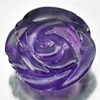 Unheated 10.74 Ct. Charming Natural Gem  Purple Amethyst Flower Carving Brazil