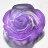 Unheated 8.54 Ct. Beautiful Natural Gem Purple Amethyst Flower Carving Brazil