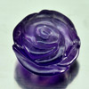 Unheated 15.47 Ct. Flower Carving Natural Gemstone Purple Amethyst From Brazil