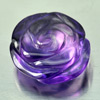 9.57 Ct. Flower Carving Natural Gemstone Purple Amethyst From Brazil Unheated