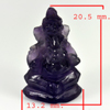 12.57 Ct. Natural Gemstone Purple Amethyst Ganesha Carving Size20.5x13.2mm.