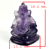 11.50 Ct. Natural Gemstone Purple Amethyst Ganesha Carving Unheated