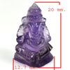 11.81 Ct. Natural Gemstone Purple Amethyst Ganesha Carving Unheated