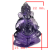 16.56 Ct. Natural Gemstone Purple Amethyst Ganesha Carving Unheated