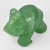 110.05 Ct. Elephant Carving Natural Gemstone Green Aventurine Unheated