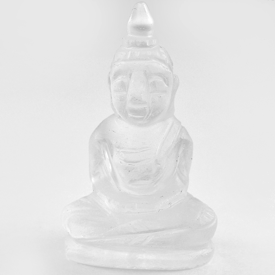 Attractive 53.35 Ct. Natural White Quartz Buddha Carving From Thailand