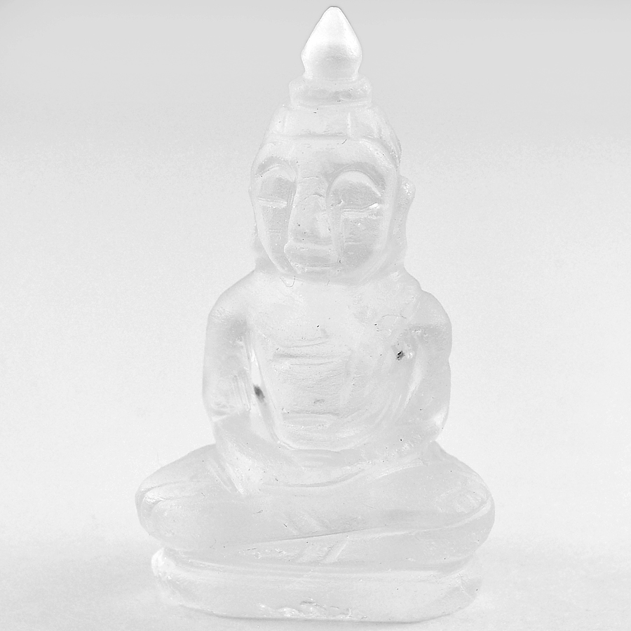 Beautiful 51.33 Ct. Natural White Quartz Buddha Carving From Thailand