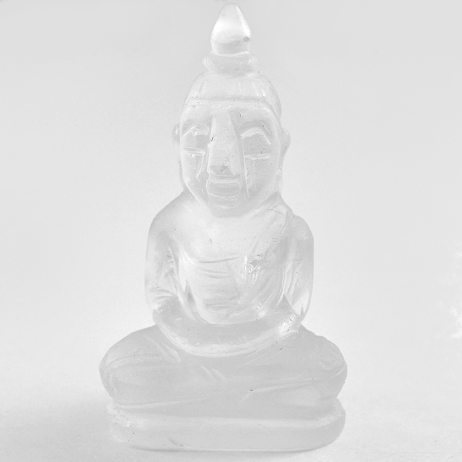 Delightful 54.84 Ct. Natural White Quartz Buddha Carving From Thailand