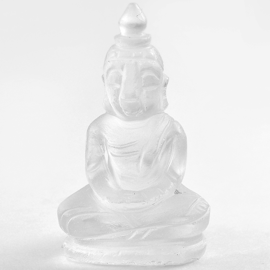 Beautiful 57.61 Ct. Natural White Quartz Buddha Carving From Thailand