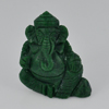56.47 Ct. 31x22x14 Mm. Natural Gemstone Green Zoisite Ganesha Carving Unheated
