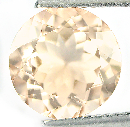 3.53 Ct. Beauty Natural Peach Morganite Gemstone Round Shape Brazil