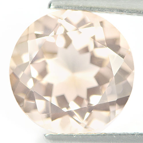 3.29 Ct. Round Shape Natural Peach Morganite Gemstone Brazil