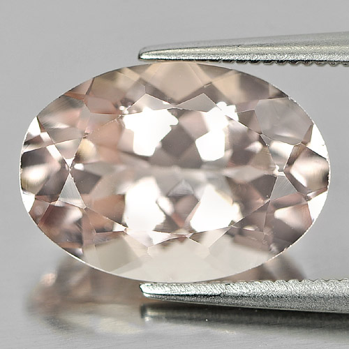 Unheated 5.72 Ct. Alluring Gem Natural Peach Pink Morganite Oval Shape