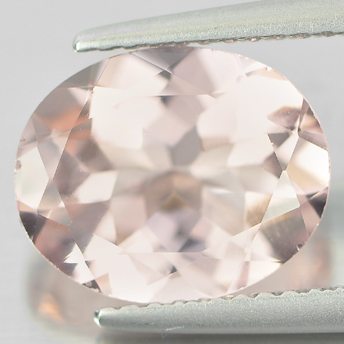 2.84 Ct. Clean Natural Peach Pink Morganite Gemstone Oval Shape Unheated