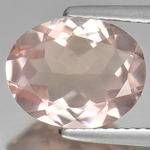 Unheated Gem 2.81 Ct. Natural Peach Pink Morganite Oval Shape