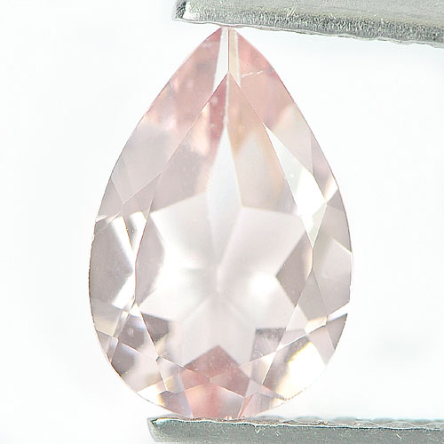 0.92 Ct. Beauty Pear Shape Natural Gemstone Peach Pink Morganite From Brazil