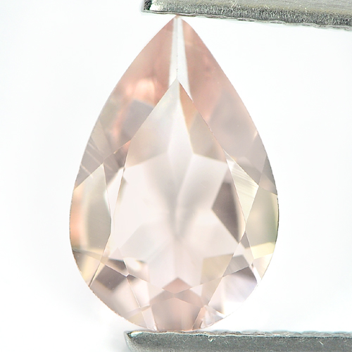 0.91 Ct. Charming Pear Shape Natural Gem Peach Pink Morganite From Brazil