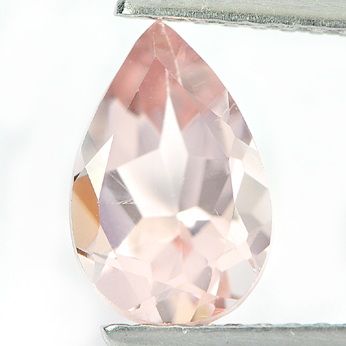 1.24 Ct. Attractive Natural Gemstone Peach Pink Morganite Pear Shape From Brazil