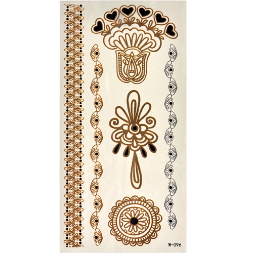 Selfie Temporary Tattoo Gold & Blue Sheebani Style
