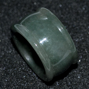 50.49 Ct. Good Natural White Green Ring Jade Thailand Unheated