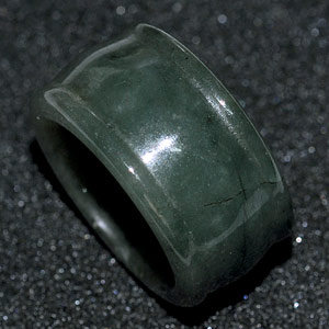 49.51 Ct. Good Natural White Green Ring Jade From Thailand