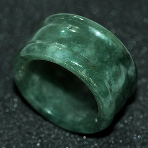52.15 Ct Nice Natural Green Ring Jade From Thailand Unheated