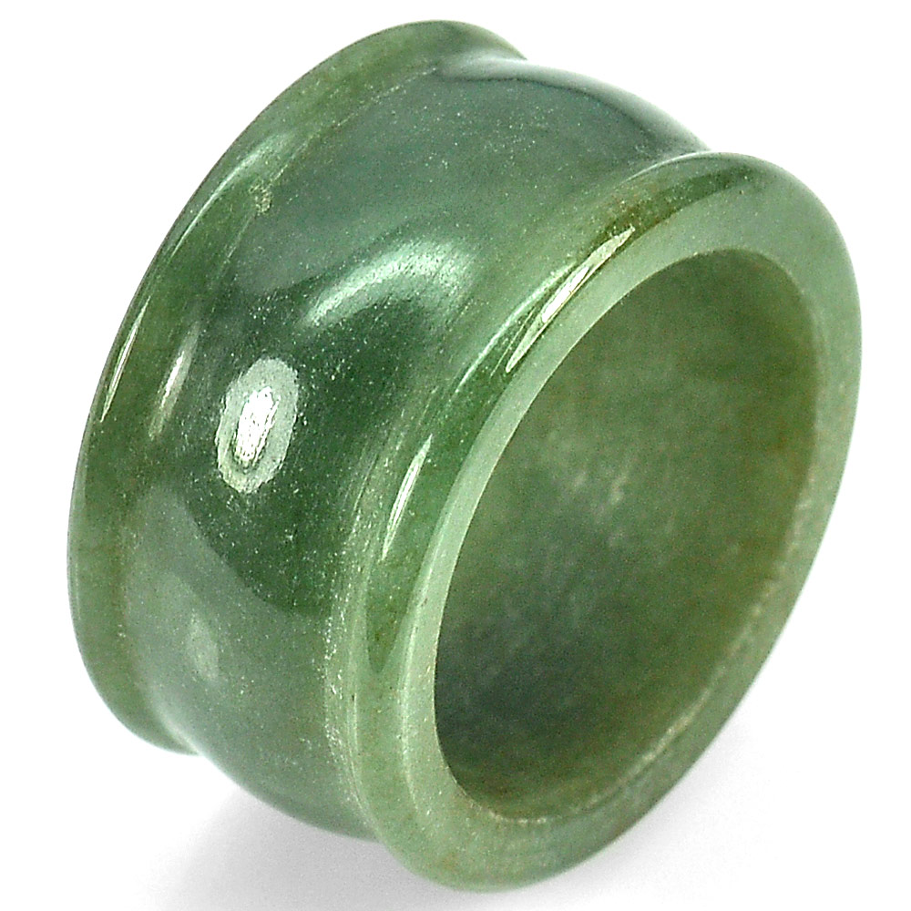 48.52 Ct. Green Jade Ring Size 10.5 Natural Gemstone Unheated