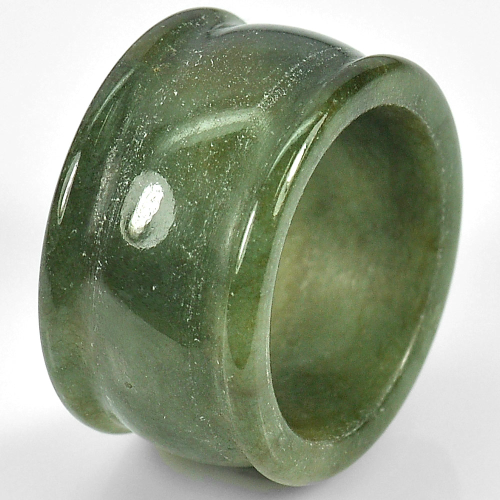 49.70 Ct. Natural Green Ring Jade From Thailand  Unheated