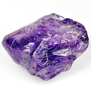 35.65 Ct. Unheated Natural Violet Amethyst Rough Brazil