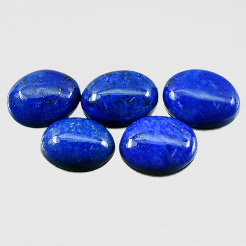 3.66 Ct. 5 Pcs. Beauteous Natural Gems Royal Blue Lapis Lazuli Oval Cabochon